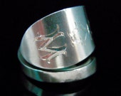 Sterling Silver Spoon Ring - Antique Silverware Jewelry - WAYLAND