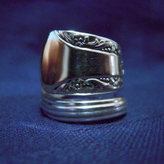 Silver Spoon Ring - Camelia