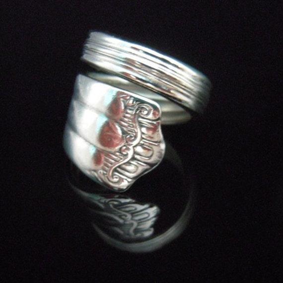 Repurposed Silverware Jewelry Silver Spoon Ring - Deerfield