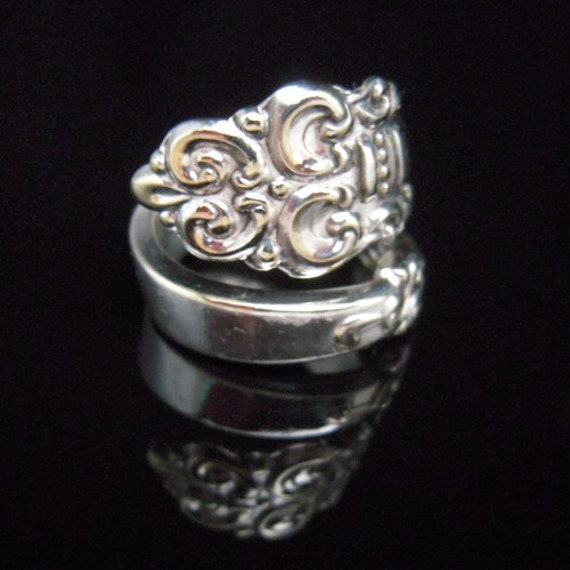 Silver Spoon Ring - Spanish Crown