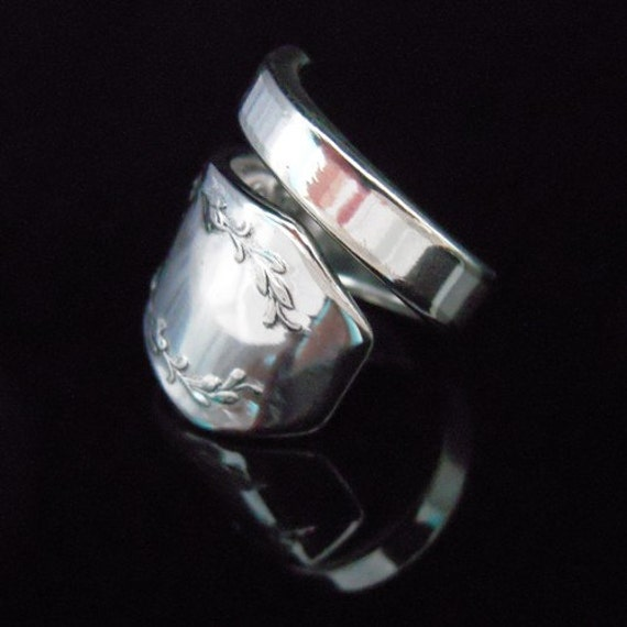 Silver Spoon Ring - Carolina - Fork and Spoon Jewelry