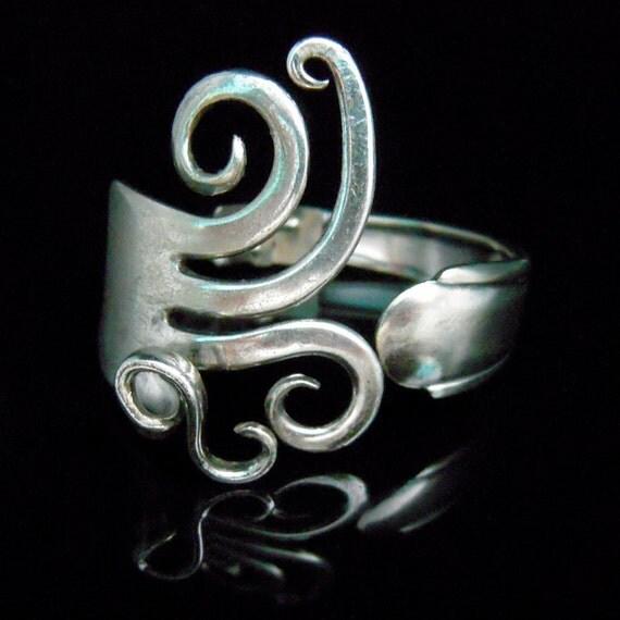 Fork Bracelet - Size SMALL 5-6 inch wrist - Fancy Design Number 5