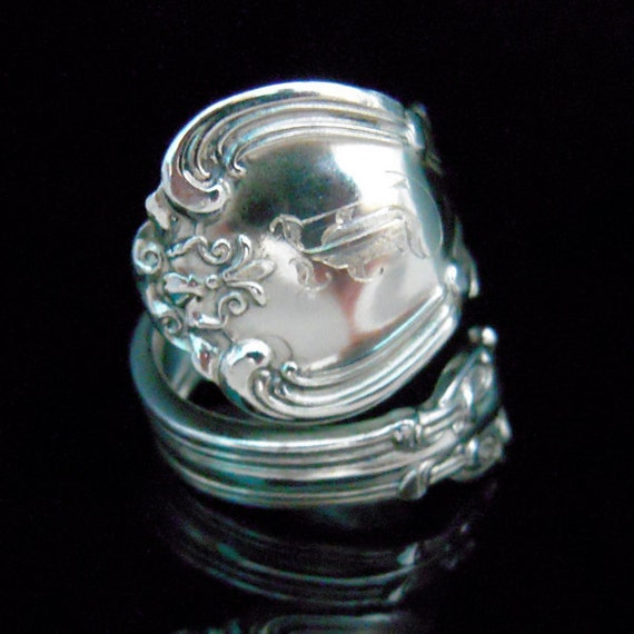 Sterling Silver Spoon Ring - Silverware Jewelry - Chantilly by Gorham
