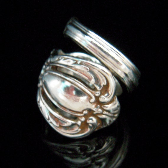 Silver Spoon Ring - Grand Heritage - Antique Silverware Jewelry