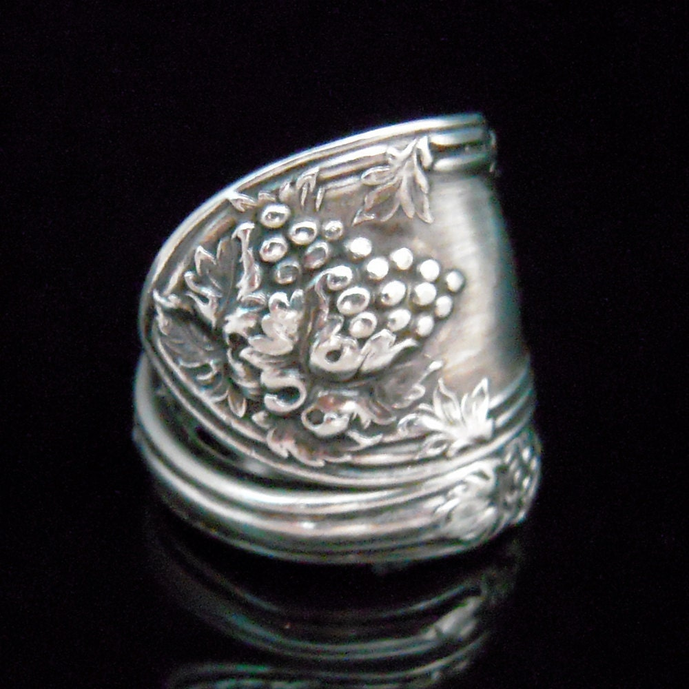 antique silver spoon ring lavigne fork and spoon jewelry