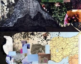 Coastline - Orignal Mixed Media Assemblage on plywood
