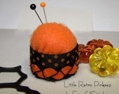 Halloween Retro Bottlecap Pin Cushion OOAK Original OFG TEAM