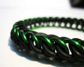 Green and Black Stretchy Half Persian Bracelet