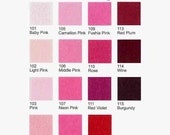 5 Plain Felt Sheets - Pinks and Reds - 20cm x 20cm per sheet - Pick your own 5 colors