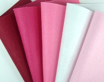 5 Colors Felt Set - Valentine - 20cm x 20cm per sheet