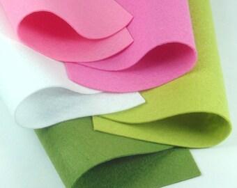 5 Colors Felt Set - Very Berry - 20cm x 20cm per sheet