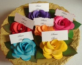 Place Card Names Luncheon Place cards Escort Cards with leaves  Custom order qty 30
