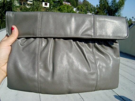 Vintage Grey Clutch purse