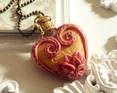 Love Potion - Polymer Clay Perfume Bottle Necklace