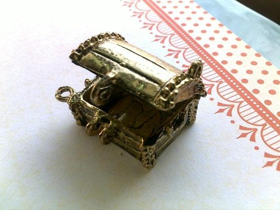 RESERVED LISTING Treasure chest locket pendant charm