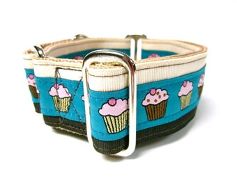 "Houndstown 1.5"" Neapolitan Cupcake Unlined Martingale Collar Size Medium"