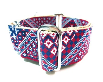 "Houndstown 1.5"" Bandana Unlined Martingale Collar Size Small, Medium, or Large"
