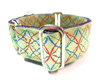 "Houndstown 1.5"" Spirograph Unlined Martingale Collar Size Small, Medium, or Large"