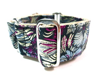 "Houndstown 1.5"" Bright Gerbera Martingale Collar Size Small, Medium, or Large"