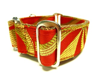 "Houndstown 1.5"" Red Kite Unlined Martingale Collar Size Small, Medium, or Large"