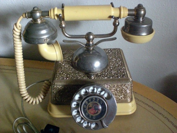 Vintage phone,Treasury item, French continental telephone, Prop
