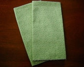 SALE Moss Green Country set of Cloth Picnic Napkins