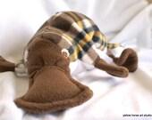 custom order - Plaid Platypus in plaid fleece