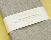 Organic Cloth Napkins: Organic Cotton/Recycled Hemp Napkins in Gray and White, Set of 4