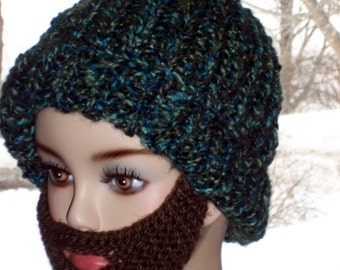 Bearded Beanie Knitting Pattern : Hand Knit Beard Pattern For Bearded Beanie by KnittingOleBag