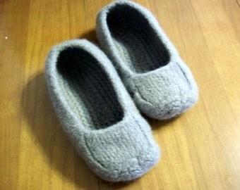 Felted Slippers Silver Women Men Children's Size non slip bottoms
