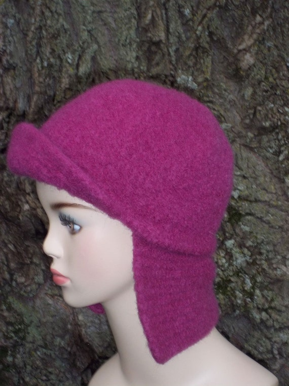Felted Hat Knitting Pattern : Pattern Knit Earflap Hat Felted