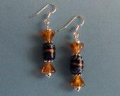 Fancy Glass Dangle Earrings
