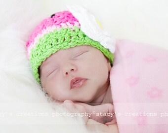 Hat Newborn Photography Newborn Girl Hat Baby Picture Props for Newborn Baby Photo Prop Hat Crochet Infant Hat Watermelon Newborn Beanie