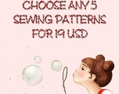 Any 5 Sewing Patterns
