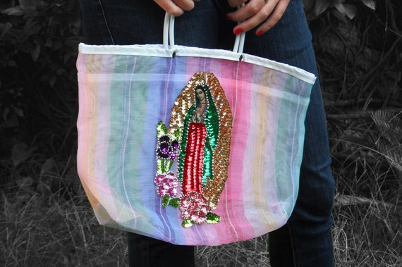 Colorful Mexican Lady of Guadalupe Net Bag / Virgen de Guadalupe