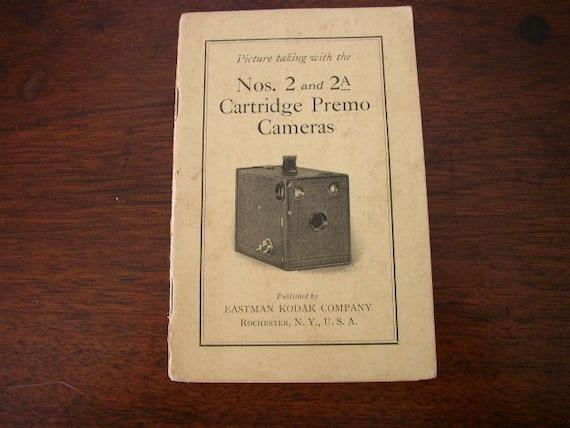 Vintage Kodak Cartridge Premo Camera 1922 Book by aroundtheclock