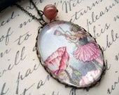 Shirley Poppy Flower Fairy Necklace