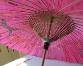 Fabulous Fushia Asian Silk Parasol