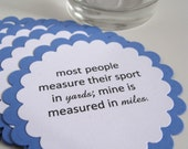 Ironman Triathlon, Marathon Novelty Coasters, Set of 10 -  Additional Quantities & Colors Available
