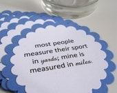 Ironman Triathlon, Marathon Novelty Coasters, Set of 10 -  Additional Quantities & Colors Available