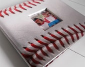 Custom Baseball or Softball 8x8 Scrapbook Album, 20 Pages, Personalized & Made to Order