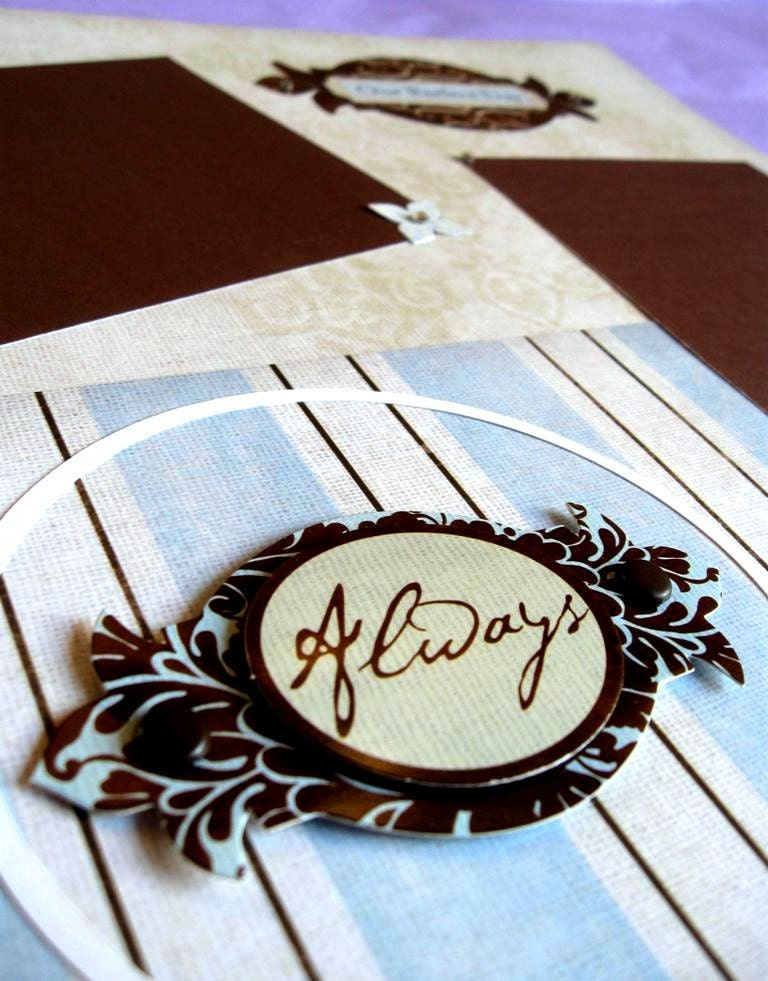 PreMade Wedding Scrapbook Pages Set Of 2 By PinkyCrafts