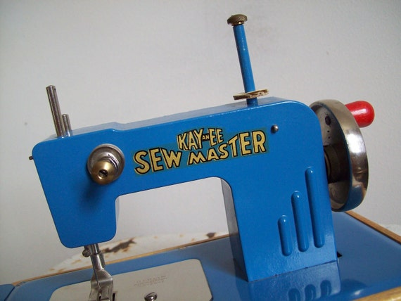 Reserved please do not purchase      Vintage 1940s KAY an EE Sew Master childs sewing machine Free Shipping to USA