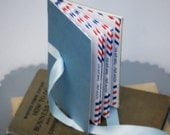 Envelope Book - Vintage Air Mail - Organizer - Eco-Friendly and Recycled - Travel Book