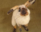 Needle felted lop eared rabbit