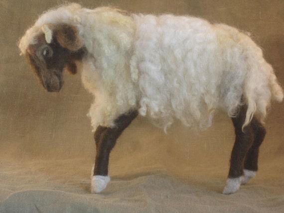 Needle felted sheep -ready to ship - Christmas nativity animal