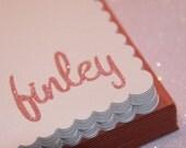 Glitter Name Stationery