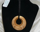 Hand Turned Monterey Cypress Pendant / Necklace
