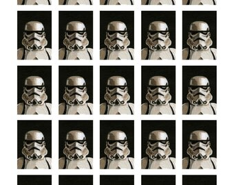 Stormtrooper Yearbook Page print