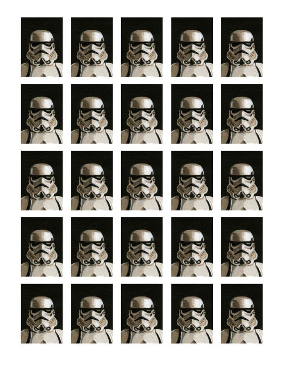 Stormtrooper Yearbook Page print